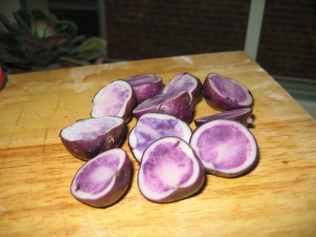 """Blue"" potatoes"