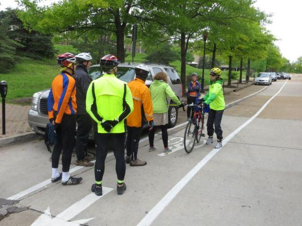 Demonstrating the danger of a door zone bike lane