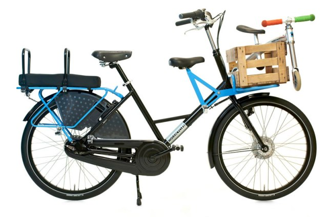 Workcycles Fr8, fully decked out for passengers, photo from J.C. Lind Bike Co.