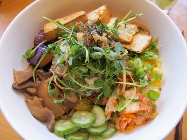 Vegetarian rice bowl at Boke -- the tofu in here was amazing!