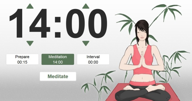 Screenshot from OnlineMeditationTimer.com